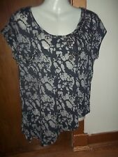 womans beaded animal print top from next size 14 has some light bobbling