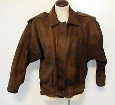 Compagnie Internationale Vintage Brown Leather Bomber Jacket-Style 29115-Size M