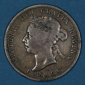 1894 Canada 25 Cents silver coin, VF, KM# 5, rare