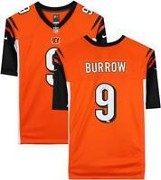Joe Burrow Cincinnati Bengals Autographed Nike Orange Game Jersey