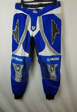 Fly Racing Yamaha Motocross Mens Trousers W38 38in Dirtbike Pants Blue White