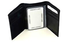 Brand New NFL Team Black Tri-Fold Leather Wallet / Assorted Teams
