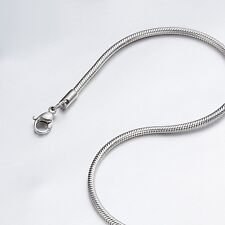 "1.5mm 16""-40"" Silver Stainless Steel Snake Necklace Chain Sb28 USA Seller"