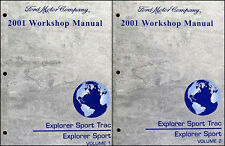 2001 Ford Explorer and Sport Trac Shop Manual Set Repair Service Workshop
