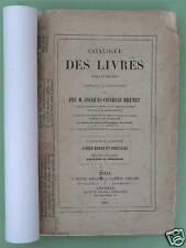 Catalogue livres rares et précieux de J.-Ch BRUNET 1868