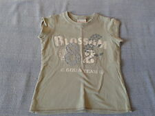 Girls 6 Years - Light Khaki Green T-Shirt with 'Blossom' Logo - Next