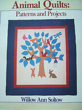 1986 Making Animal Quilts Patterns & Projects Book Noah's Ark Cats Geese Wolves