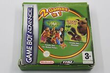 NINTENDO GAME BOY ADVANCE GBA 2 GAMES IN 1 SCOOBY DOO 1 + 2 COMPLETO PAL ESPAÑA