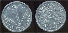 2 FRANCS BAZOR 1943   ( SUP )  ( bis )