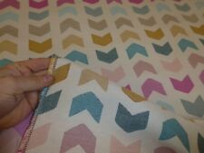 MULTI-COLOURED - Funky Retro Chevron Chenille Weave Upholstery Fabric