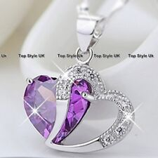 925 Sterling Silver Amethyst Necklace Women Gifts for Her Wife Niece Sister J209