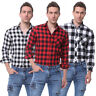 Men's Flannel Brushed Cotton Long Sleeve Male Classic Plaid Shirts Casual Top