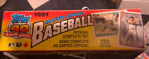 1991 OPC O Pee Chee Baseball Factory Set Chipper Jones Rookie