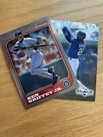 Ken Griffey Jr Trading Cards Black Diamond Upper Deck #76 AND Bowman Crome Topps