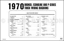 1970 Ford Bronco and Econoline Wiring Diagrams E100 E200 E300 Van Club Wagon 70