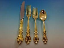 Melrose Gold by Gorham Sterling Silver Flatware Set For 8 Service Vermeil