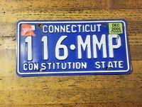 Vintage LICENSE PLATE CONNECTICUT Antique Car Tags 116 MMP Man Cave Decor ☆USA
