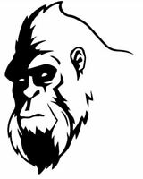 Die Cut Vinyl Decal Sasquatch Bigfoot Face Graphics 20 Colors Car Truck #915
