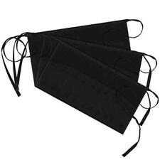 New listing Syntus 3 Pack 3 Pockets 100% Cotton Waist Apron, Black, Size Medium IyQu