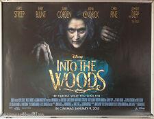 Cinema Poster: INTO THE WOODS 2015 (Quad) Anna Kendrick Meryl Streep Chris Pine