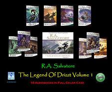R.A. Salvatore THE LEGEND OF DRIZZT Volume #1 ~ MP3 CD 10 Disc Set ~ UNABRIDGED