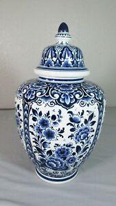 Oud DELFT Porcelain Large Covered JAR Urn