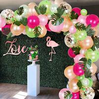Tropical Hawaiian Latex Balloon Arch Garland Kit Wedding Jungle Luau Party Decor