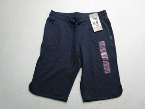 Eddie Bauer Mens S Purple Bermuda Sweat Shorts Pockets French Terry Flex Waist