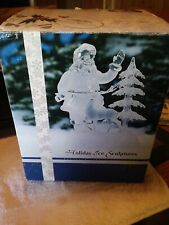Holiday Ice Sculpture, Heritage Mint, Santa With Deer, Color Changing - 2002