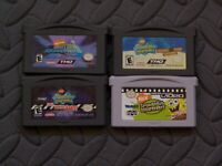 Nintendo Game Boy Advance GBA Games SpongeBob SquarePants Lot of 4