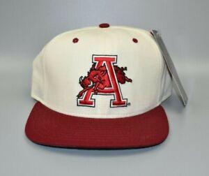 Arkansas Razorbacks New Era Vintage 90's NCAA Snapback Cap Hat - NWT