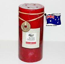 GOOSE CREEK CANDLES * Red Hot Cinnamon * 15cm Tall Pillar Candles *
