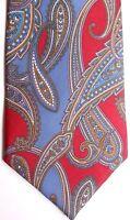 "Kuppenheimer Men's Silk Tie 64.5"" X 4"" Multi-Color Abstract Paisley"