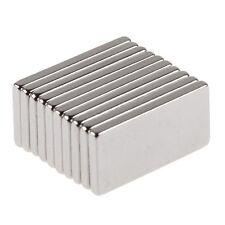10Pcs Super Strong Block Fridge Magnets Rare Earth Neodymium 20x10x2mm N35