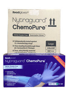 Case (10 Boxes) Nytraguard ChemoPure Nitrile Gloves (100) - Large
