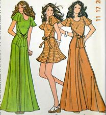 New ListingVtg 1973 McCalls Sewing Pattern Top Skirt Pants Mini Maxi Bell Bottom 3541 10
