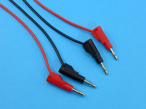 Silicone Leads (14AWG) with Stackable Banana Plugs on Both Ends (1 Pair)