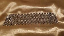 SG Liquid Metal Silver Cascade Mesh Bracelet by Sergio Gutierrez, approx 7 1/4