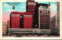Dallas TX Hotel Adolphus Postcard unused 1930s/40s