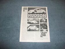 "1938 Hudson Coupe Vintage Drag Car Article ""Smoke on the Hudson"""