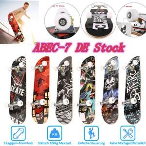 """Skateboard 30"""" Ahorn Holzboard Skate Board Longboard Kinder Komplettboard, w 13"""