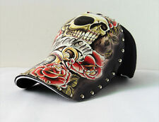 Fashion Women/Mens Punk Rock Rivet Hip Hop Cap Skull Spike Printing Baseball Hat