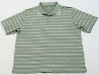 Grand Slam Golf Polo Shirt Short Sleeve XXL Gray Striped Man's Men's Polyester