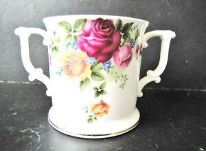 Rare Sutherland Bone China Roses TWIN HANDLED CUP / Ideal for Elderly or Infirm