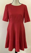 New Boden Wool Skater Dress in Red (D56) - Size UK 12P - RRP £139.00