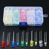 300pcs 3mm 5mm LED Diodes Emitting White Yellow Red Green Blue Assorted Kit DIY