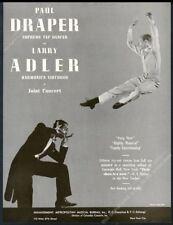 1942 Paul Draper Larry Adler photo concert tour booking trade print ad