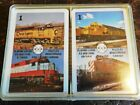 Mainliner RR playing cards double deck Chessie Santa fe Frisco CPRail