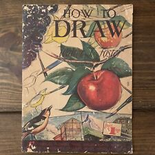 Vintage HOW TO DRAW Art Instruction Book Walter Foster Paperback