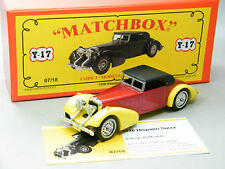 Matchbox MoY Code 2 Y-17 Hispano Suiza rot/gelb Sondermodell in roter Box 1v6